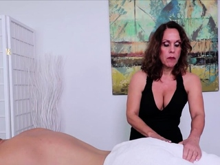 Grown-up Fetish Masseuse Erotic Handjob
