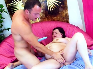Chubby Fat Mature adjacent to Huge Monster Tits Fuck wits Young Guy
