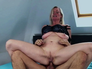 german blonde full-grown milf get anal charge from
