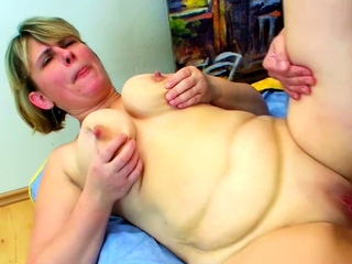 Huge Saggy Tits Mum Fuck by Big Dick Step Son coupled with Facial