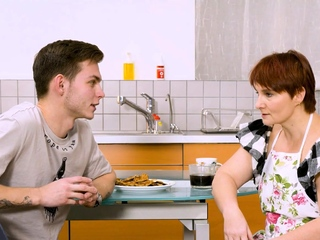 SHAME4K. Mature redhead agrees to realize off when friends son