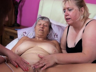 A handful of old bbw matures play with vibrant toys