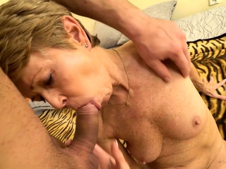 MATURE4K. Baffle is here to please of age woman nailing