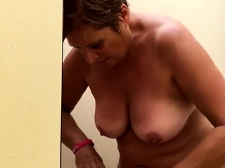 my BBW matriarch showers in the holiday park