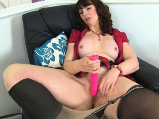 Mature Lelani gets overwhelmed by naturally high sex drive