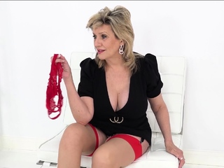 Lady Sonia wants you to get a whiff of her sloppy panties